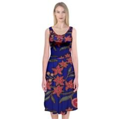 Batik  Fabric Midi Sleeveless Dress by BangZart