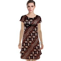 Art Traditional Batik Pattern Cap Sleeve Nightdress