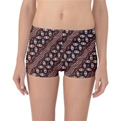 Art Traditional Batik Pattern Reversible Boyleg Bikini Bottoms