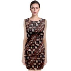 Art Traditional Batik Pattern Classic Sleeveless Midi Dress
