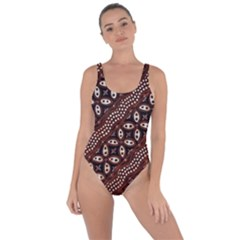 Art Traditional Batik Pattern Bring Sexy Back Swimsuit
