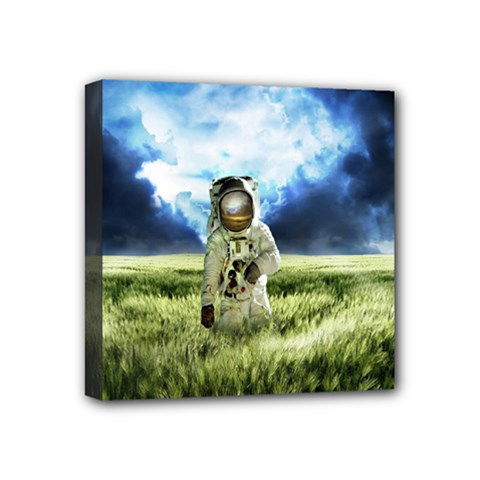 Astronaut Mini Canvas 4  X 4  by BangZart
