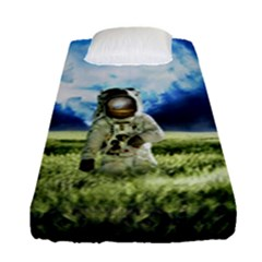 Astronaut Fitted Sheet (single Size) by BangZart