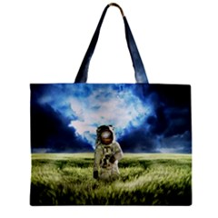 Astronaut Zipper Mini Tote Bag by BangZart