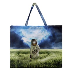 Astronaut Zipper Large Tote Bag by BangZart