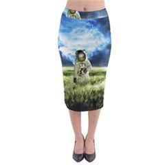 Astronaut Midi Pencil Skirt