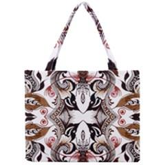 Art Traditional Batik Flower Pattern Mini Tote Bag by BangZart