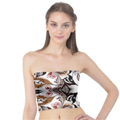 Art Traditional Batik Flower Pattern Tube Top