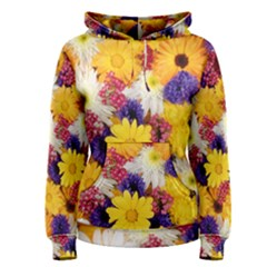 Colorful Flowers Pattern Women s Pullover Hoodie