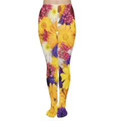 Colorful Flowers Pattern Women s Tights