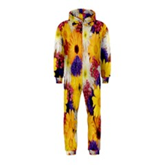 Colorful Flowers Pattern Hooded Jumpsuit (kids)