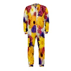 Colorful Flowers Pattern Onepiece Jumpsuit (kids)
