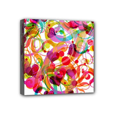 Abstract Colorful Heart Mini Canvas 4  X 4  by BangZart