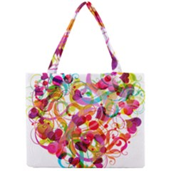 Abstract Colorful Heart Mini Tote Bag by BangZart