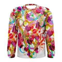Abstract Colorful Heart Men s Long Sleeve Tee by BangZart