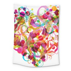 Abstract Colorful Heart Medium Tapestry