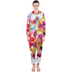 Abstract Colorful Heart Hooded Jumpsuit (ladies)  by BangZart