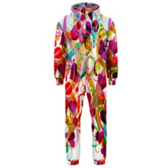 Abstract Colorful Heart Hooded Jumpsuit (men)