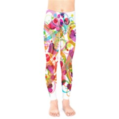 Abstract Colorful Heart Kids  Legging