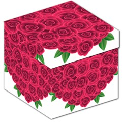 Floral Heart Storage Stool 12
