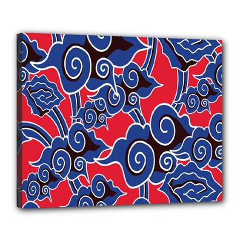 Batik Background Vector Canvas 20  X 16  by BangZart