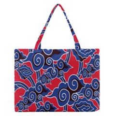 Batik Background Vector Medium Zipper Tote Bag
