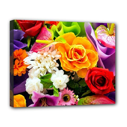 Colorful Flowers Canvas 14  X 11  by BangZart
