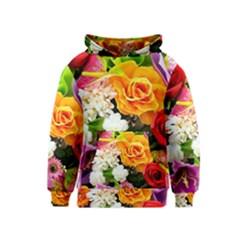 Colorful Flowers Kids  Pullover Hoodie