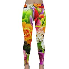 Colorful Flowers Classic Yoga Leggings