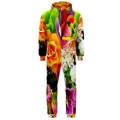 Colorful Flowers Hooded Jumpsuit (men)