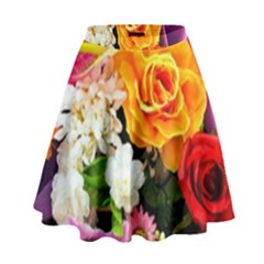 Colorful Flowers High Waist Skirt by BangZart