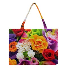 Colorful Flowers Medium Tote Bag by BangZart