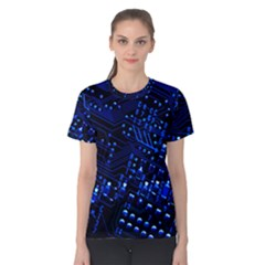 Blue Circuit Technology Image Women s Cotton Tee