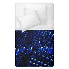 Blue Circuit Technology Image Duvet Cover (single Size) by BangZart