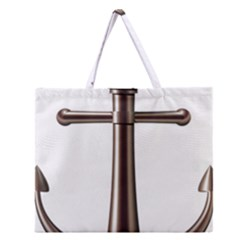 Anchor Zipper Large Tote Bag