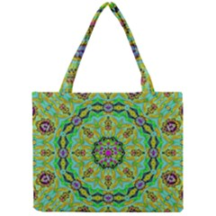 Golden Star Mandala In Fantasy Cartoon Style Mini Tote Bag by pepitasart