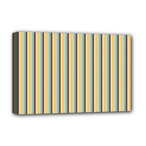 Elegant Stripes Deluxe Canvas 18  X 12   by Colorfulart23