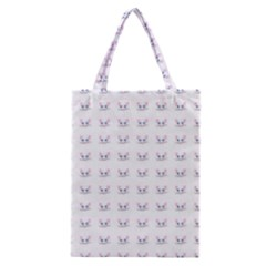 Pink Cute Cat Pattern Classic Tote Bag by paulaoliveiradesign