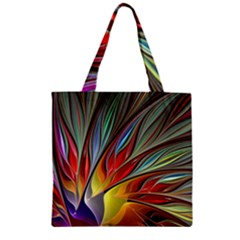 Fractal Bird Of Paradise Zipper Grocery Tote Bag by WolfepawFractals
