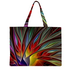 Fractal Bird Of Paradise Zipper Mini Tote Bag by WolfepawFractals