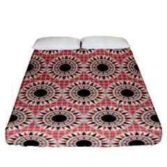 Black Stars Pattern Fitted Sheet (queen Size) by linceazul
