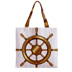 Boat Wheel Transparent Clip Art Zipper Grocery Tote Bag by BangZart