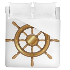 Boat Wheel Transparent Clip Art Duvet Cover (queen Size) by BangZart