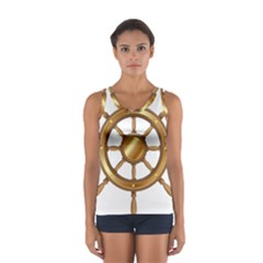 Boat Wheel Transparent Clip Art Sport Tank Top