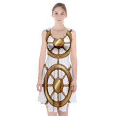 Boat Wheel Transparent Clip Art Racerback Midi Dress