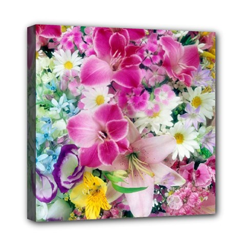 Colorful Flowers Patterns Mini Canvas 8  X 8  by BangZart