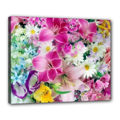 Colorful Flowers Patterns Canvas 20  X 16  by BangZart