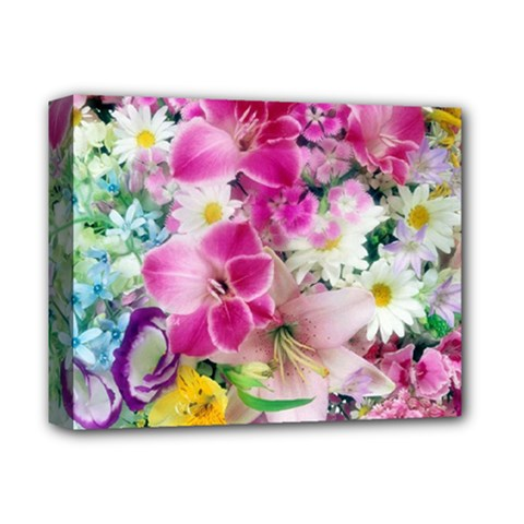 Colorful Flowers Patterns Deluxe Canvas 14  X 11  by BangZart