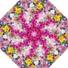 Colorful Flowers Patterns Golf Umbrellas