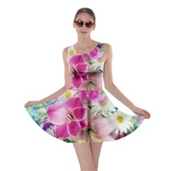 Colorful Flowers Patterns Skater Dress